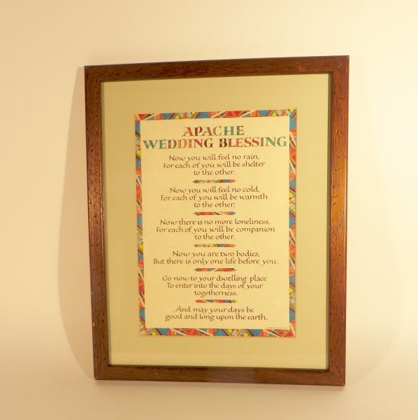 Rues Framed Apache Wedding Blessing