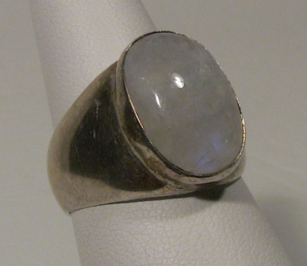 Men S Style Sterling Silver And Moonstone Ring Sold
