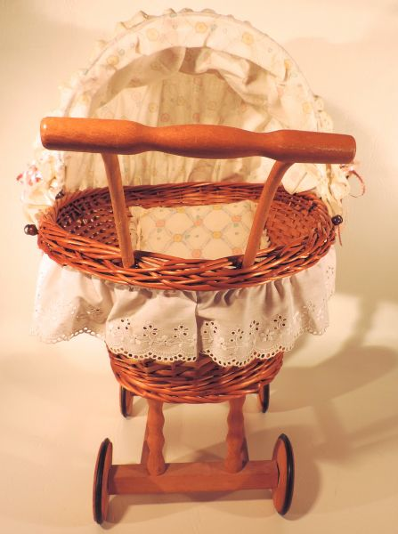 Rue S Antique Wicker Doll Carriage Sold The Estate Of Rue